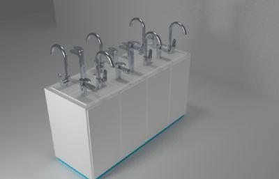 水���^展柜模型