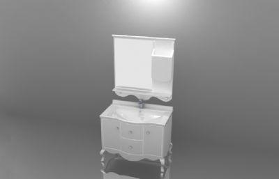 落地式浴室柜洗�池模型