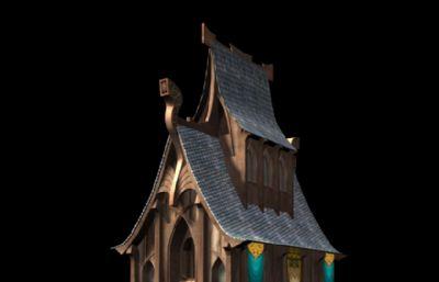 魔幻�L格教堂房子