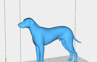 斑�c狗大��町模型,可直接打印