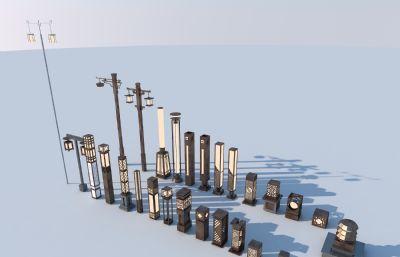 灯柱,地灯,路灯max模型