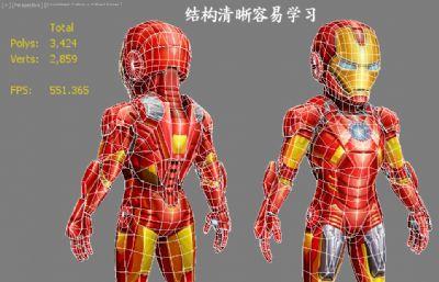 Marvel漫威英雄Iron Man��F�b卡通版Q版