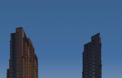 高层商业楼建筑,商业综合体