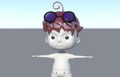 ��墨�R的��性小男孩maya2016模型