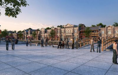 中式民国风情商业街,镜头动画(网盘下载)