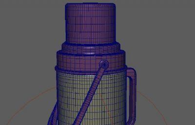 �_水瓶,暖水瓶maya模型