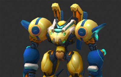 卡通版����C器人max模型