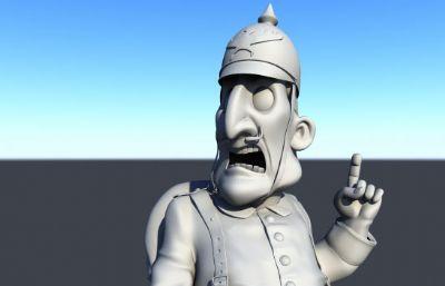 英��卡通士兵maya模型