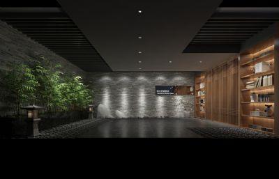 酒店竹林酒柜�^道模型(�W�P下�d)