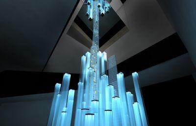 建筑展示艺术装置