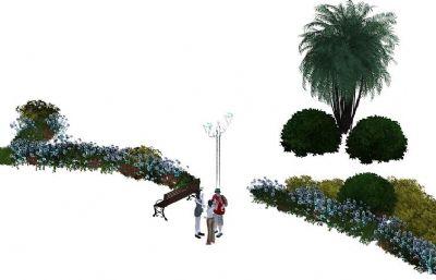花草灌木模型,代理文件