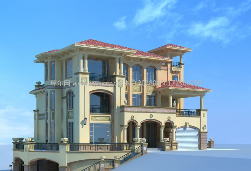 欧式三层独栋别墅