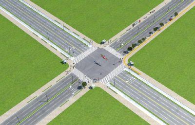 十字路口街��鼍凹�化模型