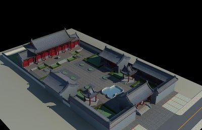 佛圣寺部分全景max模型