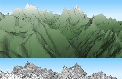 喜马拉雅山脉3D模型