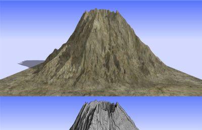 火山3D模型