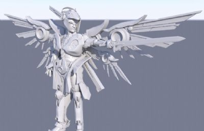 �C甲�鹗�+炫酷�C甲翅膀maya模型