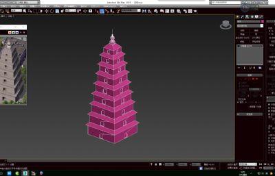 宝塔,简单的大雁塔max模型