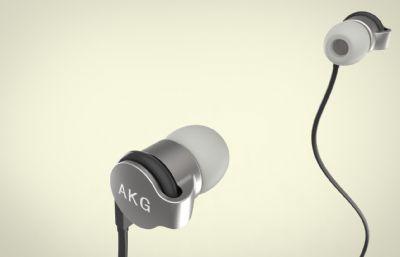 AKG K3003入耳式耳機模型