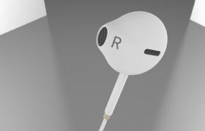 iphone入耳式耳�C模型