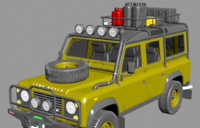 老款路虎探险者越野车max模型