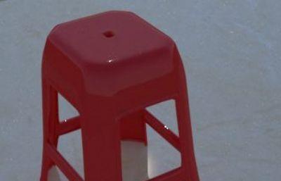 �陋塑料凳,方凳max2017模型