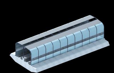 SPZ�屏障,高速路�音屏障MAX模型