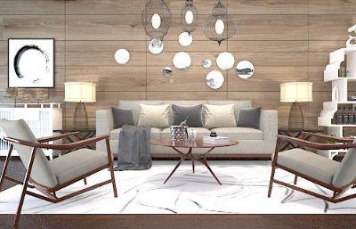 新中式简易客厅