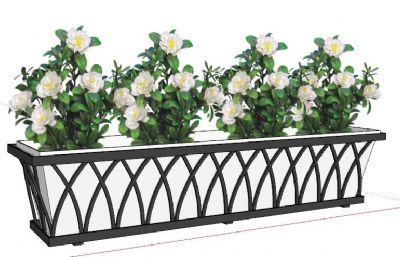 绿化花箱,花朵是图片