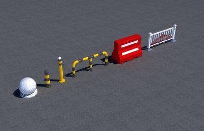 道路隔离设施max模型