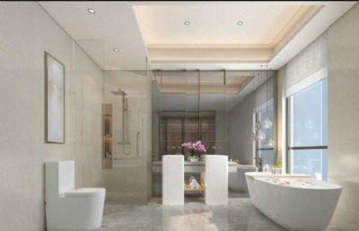现代简约浴室洗手间max模型