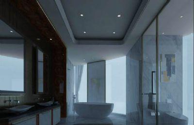 大型�e墅的洗浴�g,�l生�g