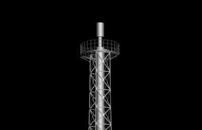 高架火炬,高空火炬max模型
