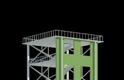 消防��塔max模型