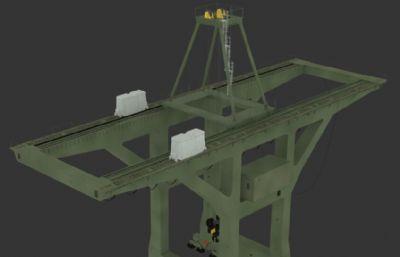 吊车,龙门吊max模型