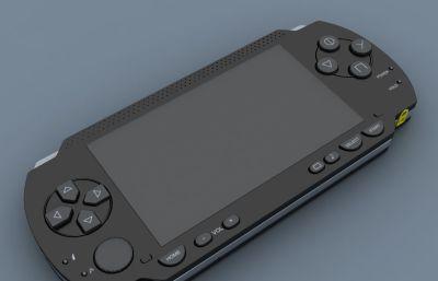 掌上PSP游戏机max模型