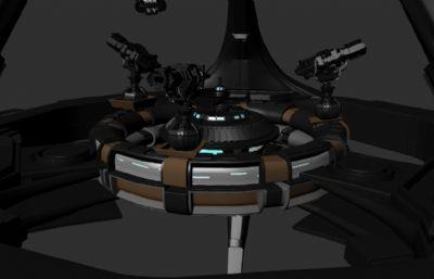 太空防御基地,攻击舰maya模型