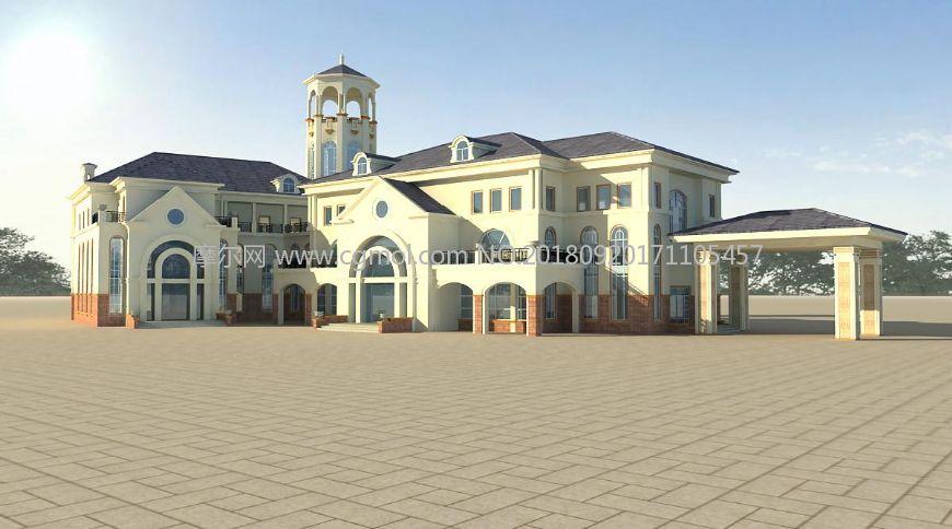 欧式酒店会所,幼儿园建筑