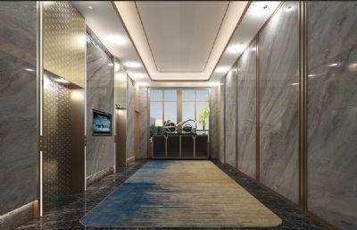 ��所酒店KTV�梯走廊