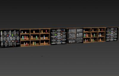 置物柜,置物架max模型