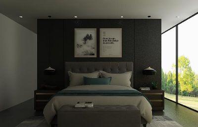 后现代美式双人床