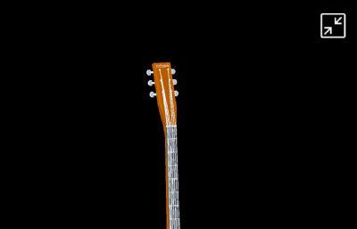 吉他低模,max2017模型