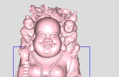 五子弥勒雕像stl模型