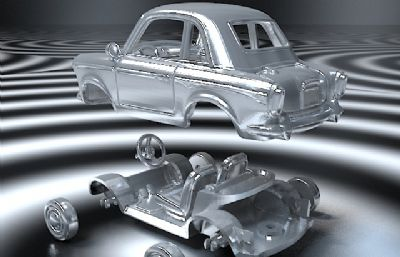 可拆小汽�,3D打印汽�,max,obj格式