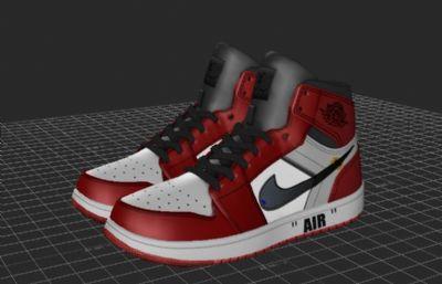 aj鞋子,FBX,MAX格式