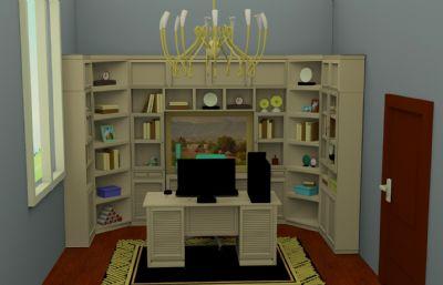 书房,工作房max2016模型