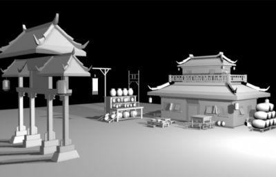 ?#21697;?酒馆,中国古代建筑模型