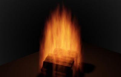 火,木�K火堆max模型
