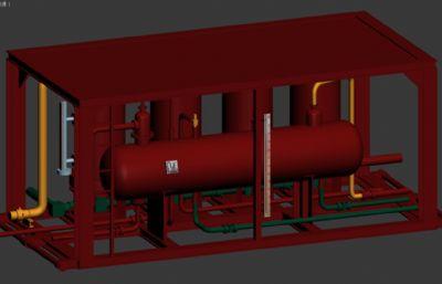 HPT三相分�x器3D模型