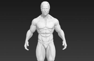 肌肉男人�wobj模型